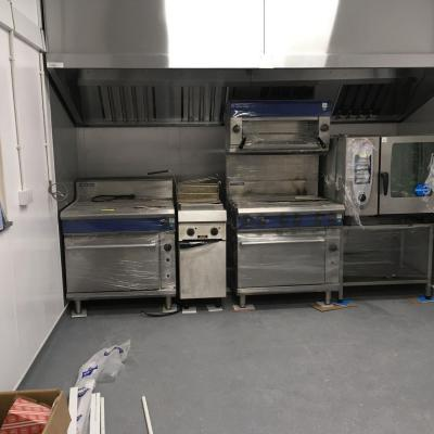 Kitchen equipment in place
